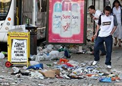 Photo of litter on British streets