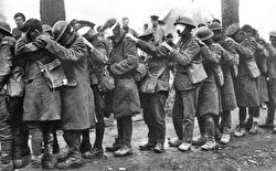 Photo of gas casualties from the 55th division