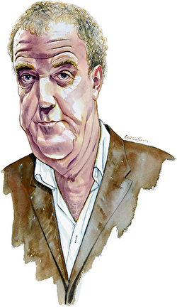 Caricature illustration of Jeremy Clarkson