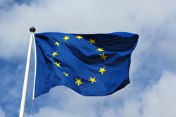 The EU flag in the wind