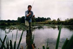 Photo of Jeremy Paxman fishing