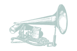 Illustration of an old gramophone
