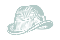 Illustration of a brimmed hat