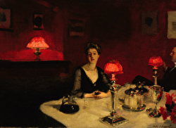 Sargent's painting 'A dinner table at night'