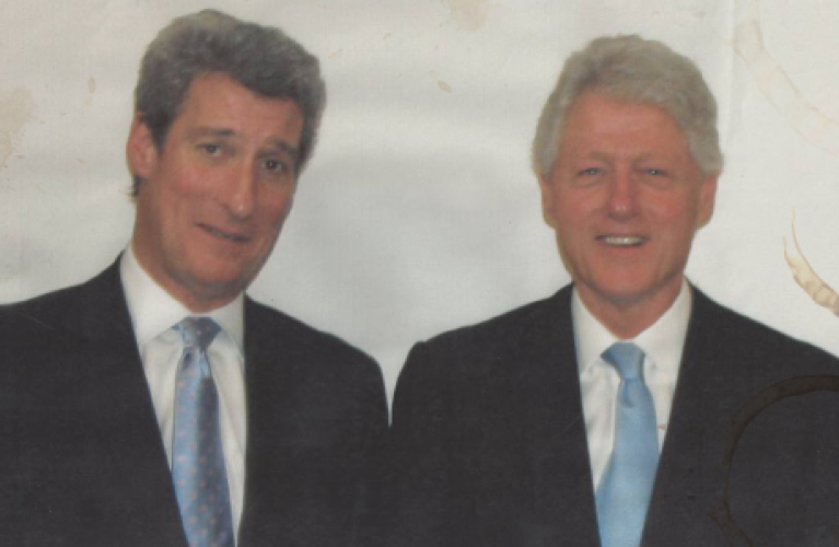 Photo of Jeremy Paxman with Bill Clinton