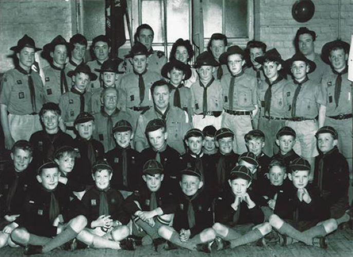 Photo of Jeremy Paxman with his Scout troop