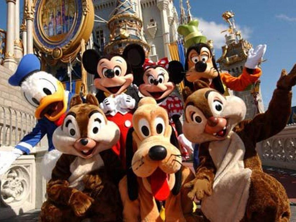 Photo of characters at a Disney resort