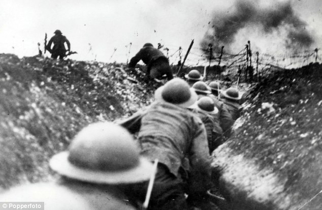 Photo of soldiers in the trenches