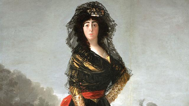 Painting by Francisco Goya entitled 'The Duchess of Alba'