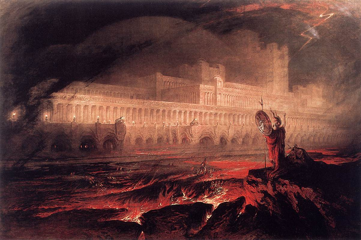 Painting by John Martin entitled 'The destruction of Pompei and Herculaneum'