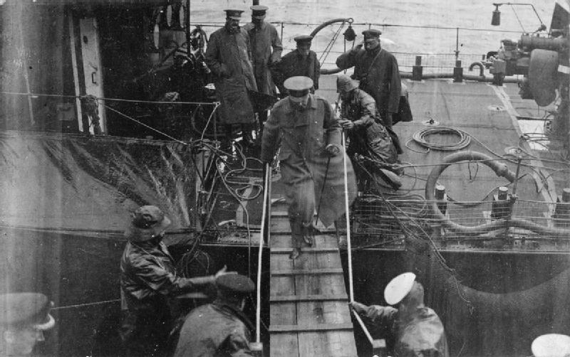 Lord Kitchener boarding the HMS Iron Duke