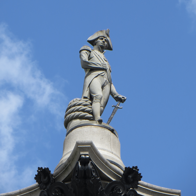 Photo of a statue of Lord Nelson