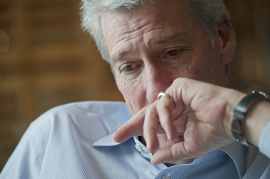 Photo of Paxman looking concerned