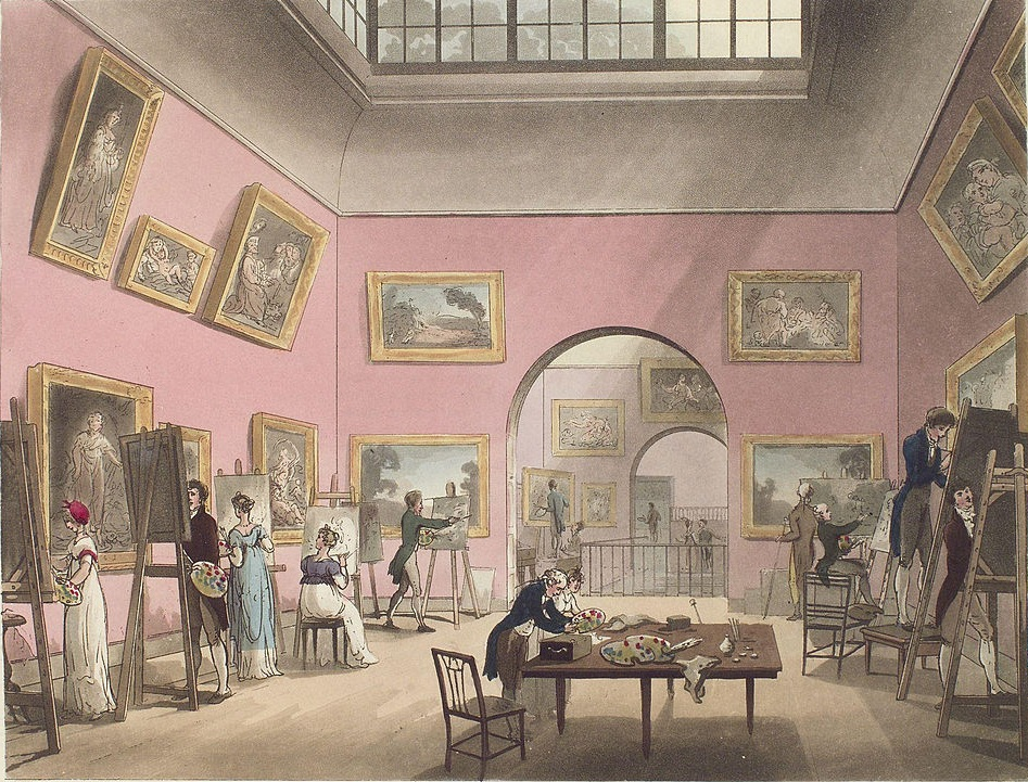 Illustration of the Pall Mall Picture Gallery in the 19th century