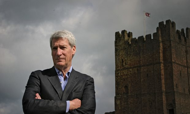 Portrait of Jeremy Paxman outside