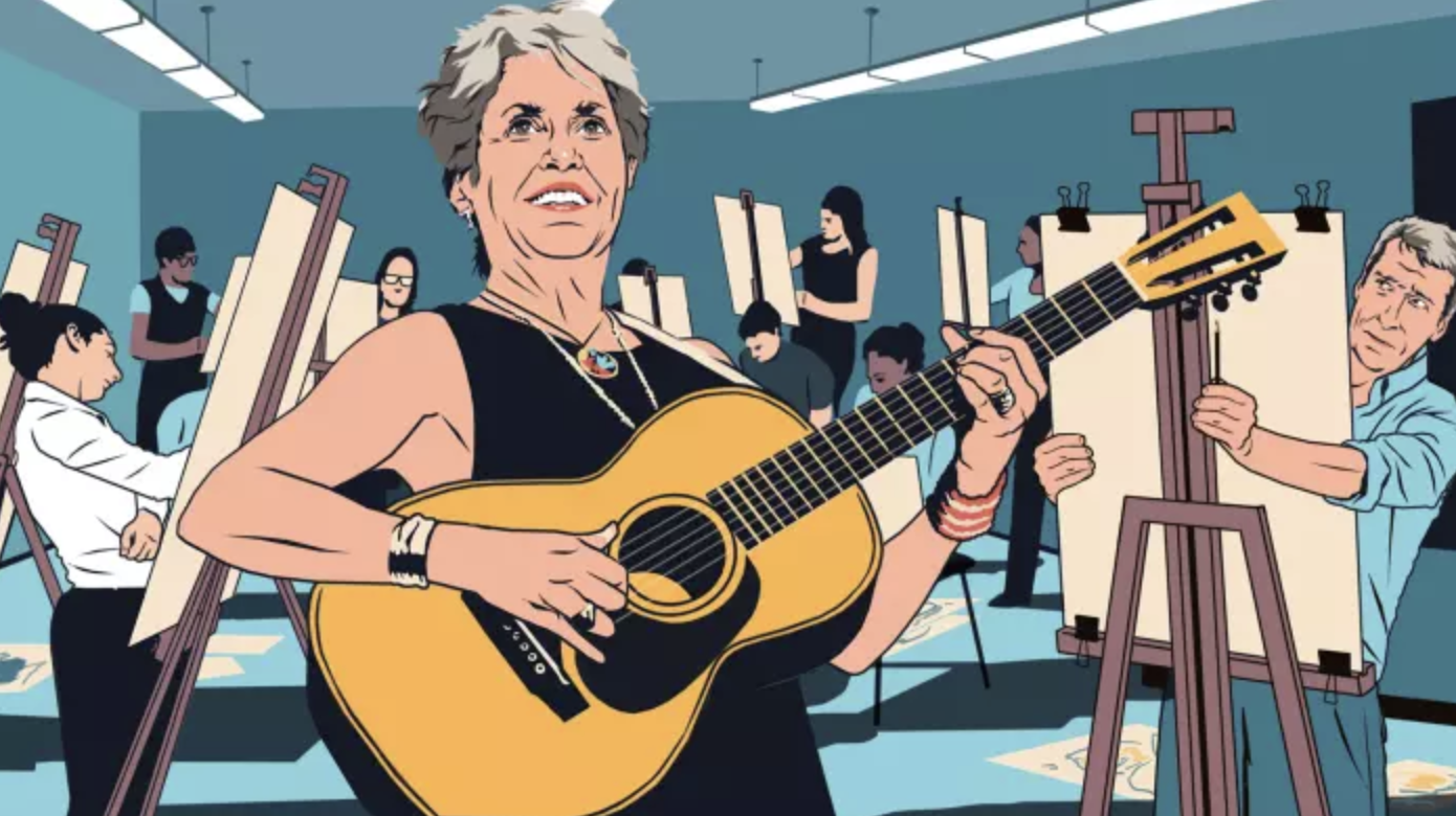 Jeremy Paxman on meeting Joan Baez and liberating his right brain
