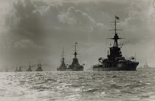 Photo of warships from the battle of Jutland