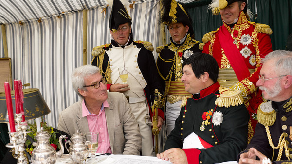 A photo of Jeremy Paxman at a reenactment of Waterloo